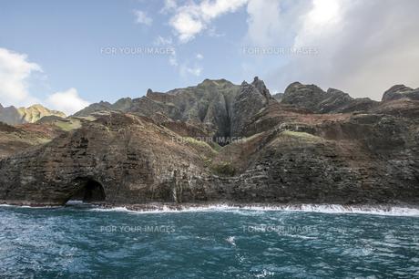 ナ・パリ・コースト、カウアイ島、ハワイ-6の写真素材 [FYI00444333]