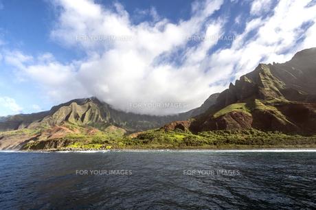 ナ・パリ・コースト、カウアイ島、ハワイ-17の写真素材 [FYI00444347]