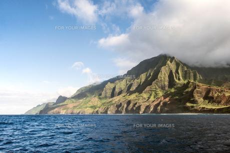 ナ・パリ・コースト、カウアイ島、ハワイ-16の写真素材 [FYI00444348]