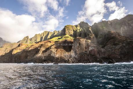 ナ・パリ・コースト、カウアイ島、ハワイ-18の写真素材 [FYI00444352]