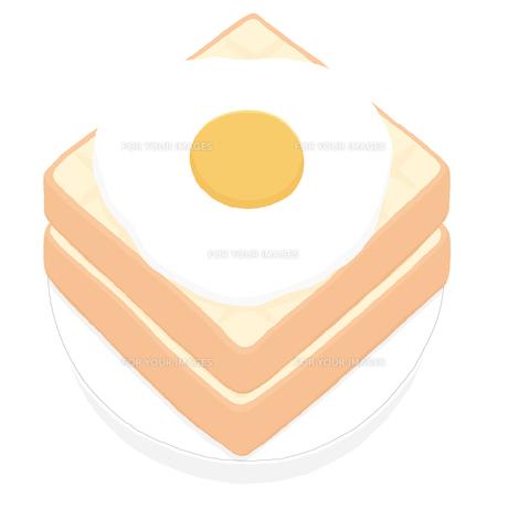 食パンと目玉焼きの写真素材 [FYI00444379]