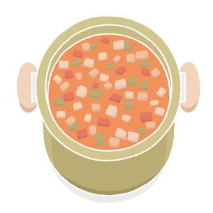 鍋に入った野菜スープの写真素材 [FYI00444398]