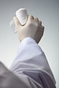 hands(bandage)_20の写真素材 [FYI00444512]