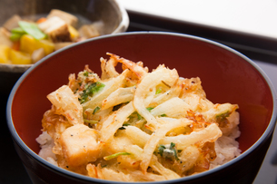 mixture_of_vegetable_bits_and_cuttlefish_fried_in_bowlの素材 [FYI00446314]