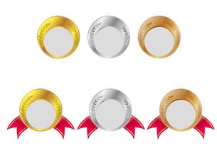 金メダル・銀メダル・銅メダルの写真素材 [FYI00447903]