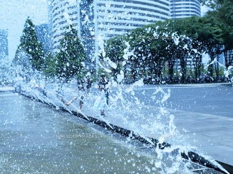 午後の水遊びの写真素材 [FYI00448230]