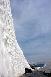 位ヶ原の雪の壁の写真素材 [FYI00448282]