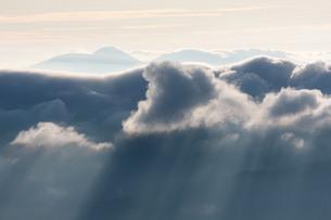 位ヶ原から見る朝の光の写真素材 [FYI00448319]