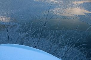 大正池の冬景色の素材 [FYI00448359]