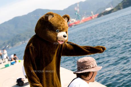 身振り手振りなクマの写真素材 [FYI00448403]