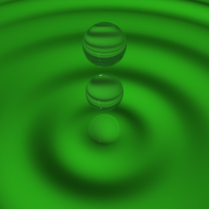 緑の水滴の素材 [FYI00448452]