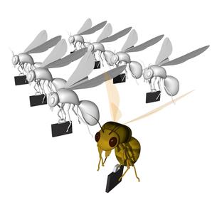 働き蜂の写真素材 [FYI00448454]
