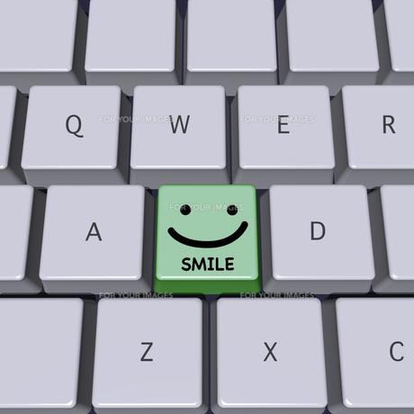SMILE印のキーボードの写真素材 [FYI00448457]