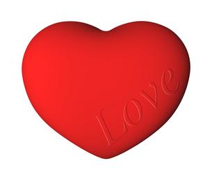 Love文字入りのハートの写真素材 [FYI00448458]