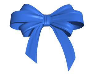 青いリボンの写真素材 [FYI00448469]