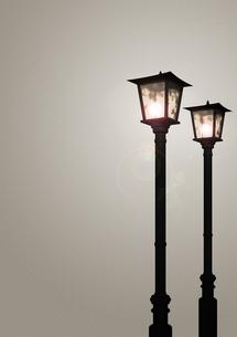 2本のガス灯の写真素材 [FYI00448476]