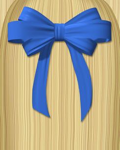 青いリボンと髪の写真素材 [FYI00448478]