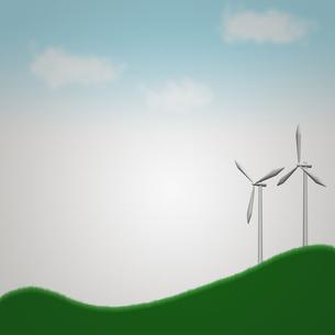 風力発電の風車の写真素材 [FYI00448479]
