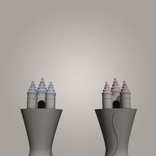 2つの城の写真素材 [FYI00448480]