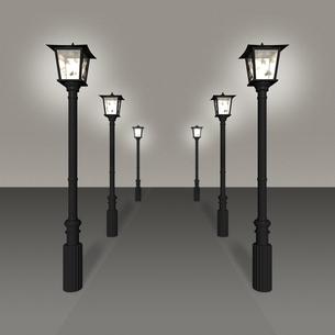6つのガス灯の写真素材 [FYI00448486]