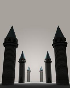 6つの塔の写真素材 [FYI00448493]
