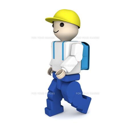 小学生のブロック人形の写真素材 [FYI00448501]