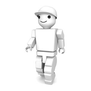 白いブロック人形の写真素材 [FYI00448532]