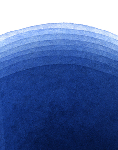 水彩による青色のグラデーションの写真素材 [FYI00448892]