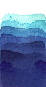 水彩による青色のグラデーションの写真素材 [FYI00448896]