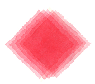 水彩による赤の重なりの抽象画の写真素材 [FYI00448906]