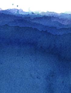 水彩による青の抽象画の写真素材 [FYI00448912]