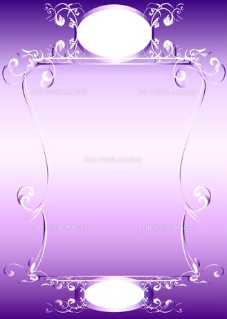 アールヌーボーのフレーム紫の写真素材 [FYI00449069]