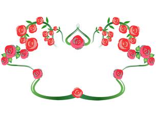 薔薇のフレームドット模様2の写真素材 [FYI00449080]
