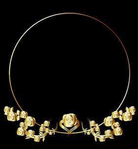 バラのフレーム円金色の写真素材 [FYI00449084]