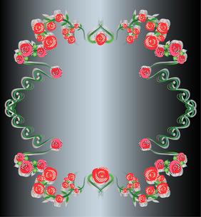 バラのフレームドット模様の写真素材 [FYI00449088]