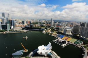シンガポールの風景 ジオラマバージョンの写真素材 [FYI00451386]