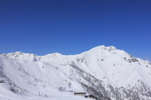 雪の谷川岳の写真素材 [FYI00452304]