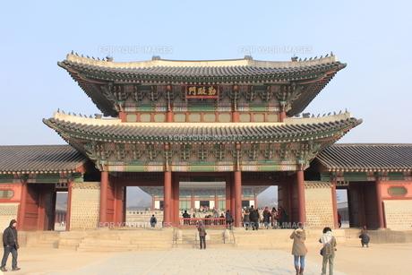 景福宮の勤政門の写真素材 [FYI00452494]