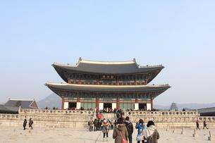 景福宮の勤政殿の写真素材 [FYI00452506]