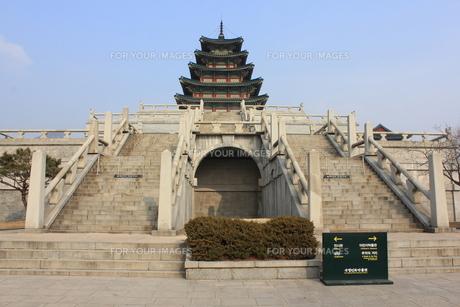 景福宮の五重塔の写真素材 [FYI00452512]