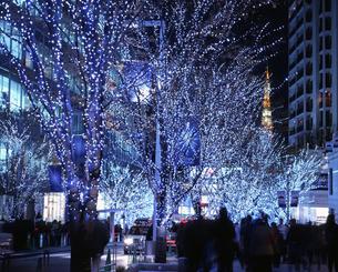 六本木ヒルズのクリスマスイルミネーションの写真素材 [FYI00453079]