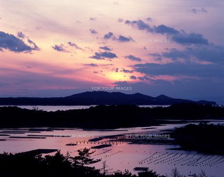 英虞湾の夕景の写真素材 [FYI00453345]