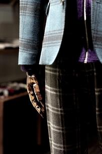 チェックのスーツの写真素材 [FYI00454233]