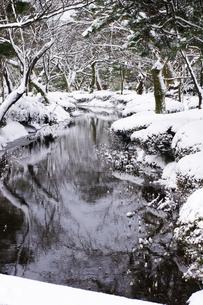 うねる小川の雪景色の写真素材 [FYI00454280]