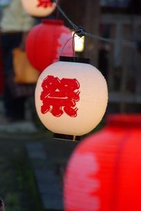祭りちょうちんの写真素材 [FYI00455708]