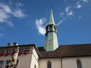 チューリッヒの教会と空の写真素材 [FYI00455750]