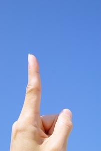 人差し指の写真素材 [FYI00455932]