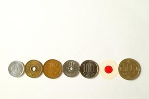 日本の硬貨の写真素材 [FYI00455985]