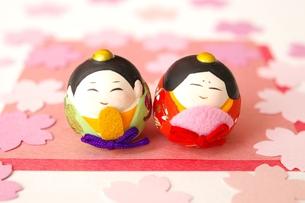 おひなさまと桜の写真素材 [FYI00455996]