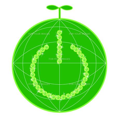 電源ボタンと地球の素材 [FYI00456012]